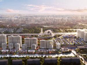 杭州地铁万科彩虹天空之城新房楼盘图片