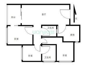 天玺1号 3室1厅 94.08㎡ 精装深圳罗湖区东门二手房图片