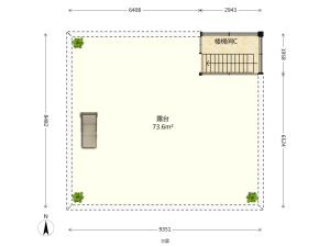 中海月朗苑 5室2厅 118.38㎡ 精装_中海月朗苑二手房户型图片6