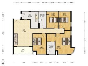 凯德公园1号 4室2厅 145.52㎡_凯德公园1号二手房户型图片3