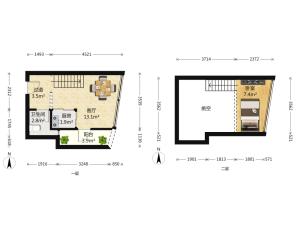 城市3米6公寓 1室1厅 35㎡深圳福田区福田保税区二手房图片
